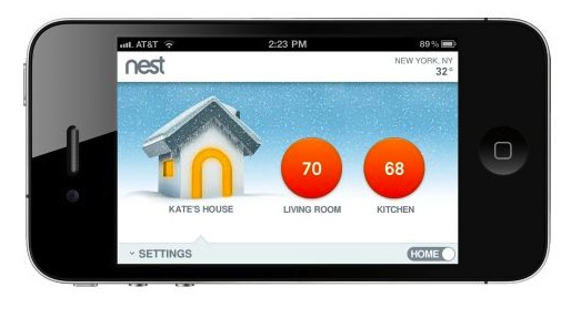 Nest Thermostat iPhone app