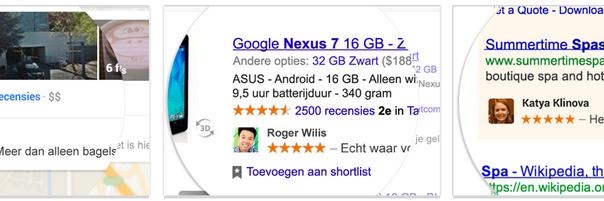 Google Aanbevelingen