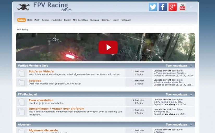 Nederlands FPV Racing forum opgericht